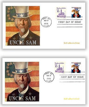 3259 and 3263 / 22c Uncle Sam Set of 2 Fleetwood 1998 First Day Covers