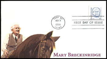 2942 / 77c Mary Breckinridge : Founder, Frontier Nursing Service Fleetwood 1998 First Day Cover