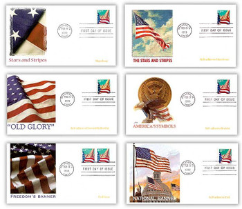 3277 - 3282 / 33c Flag Over City Set of 6 Fleetwood 1999 First Day Covers