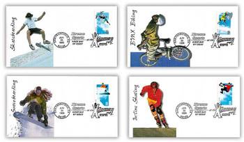 3321 - 3324 / 33c Xtreme Sports : XGames Set of 4 Fleetwood 1999 FDCs