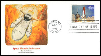 2544A / $10.75 Endeavour Shuttle Taking Off Express Mail 1995 Fleetwood FDC