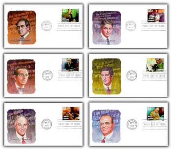 3339 - 3344 / 33c Hollywood Composers Set of 6 Fleetwood 1999 FDC