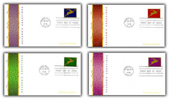 3360 - 3363 / 33c Holiday Deer PSA Booklet Set of 4 Fleetwood 1999 FDCs