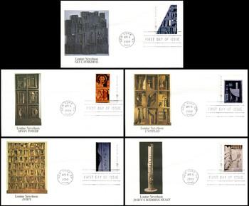 3379 - 3383 / 33c Louise Nevelson : Sculptor Set of 5 Fleetwood 2000 FDCs