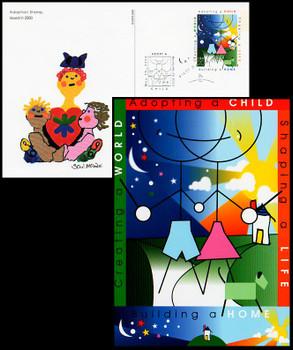 UX315 / 20c Adoption 2000 Fleetwood FDC Postal Card
