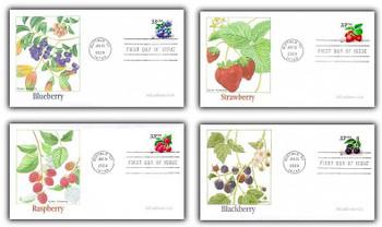 3404 - 3407 / 33c Fruit Berries PSA Coil Set of 4 Fleetwood 2000 FDCs