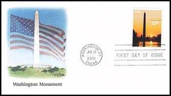 3473 / $12.25 Washington Monument Express Mail 2001 Fleetwood FDC