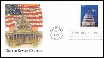 3472 / $3.50 Capitol Dome Priority Mail 2001 Fleetwood FDC