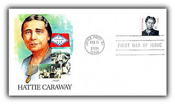 3431 / 76c Hattie Caraway First Woman Senator 2001 Fleetwood First Day Cover