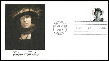 3433 / 83c Edna Ferber PSA : Distinguished Americans Series 2002 Fleetwood First Day Cover