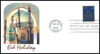3674 / 37c Eid PSA : Holiday Celebration Series 2002 Fleetwood First Day Cover