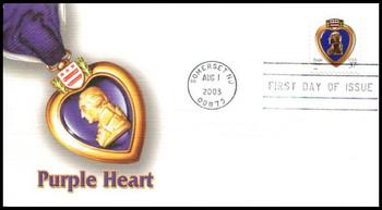 3784a / 37c Purple Heart PSA 2003 Fleetwood FDC