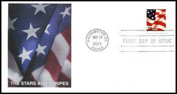 3629F / 37c U.S. Flag 2003 Fleetwood First Day Cover