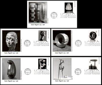 3857- 3861 / 37c Isamu Noguchi PSA Set of 5 Fleetwood 2004 First Day Covers
