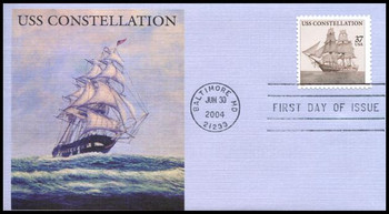 3869 / 37c USS Constellation PSA 2004 Fleetwood FDC
