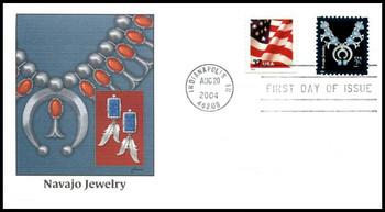 3750 / 2c Navajo Jewelry : American Design Series 2004 Fleetwood FDC
