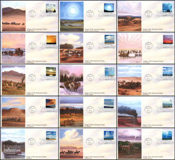 3878 a - j / 37c Cloudscapes Set of 15 Fleetwood 2004 First Day Covers
