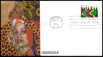 3881 / 37c Kwanzaa PSA : Holiday Celebration Series 2004 Fleetwood FDC