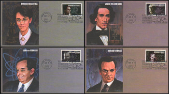 3906 - 3909 / 37c American Scientist Set of 4 Fleetwood 2005 First Day Covers