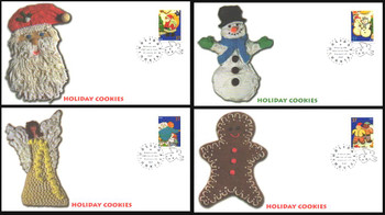 3949 - 3952 / 37c Holiday Cookies Minneapolis, MN Postmark Set of 4 Fleetwood 2005 First Day Covers
