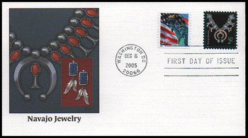 3752 / 2c Navajo Jewelry : American Design Series 2005 Fleetwood FDC