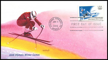 3995 / 39c Olympic Winter Games 2006 Fleetwood FDC