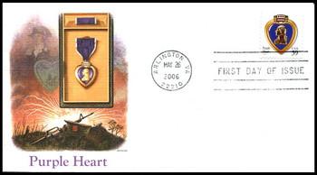 4032 / 39c Purple Heart 2006 Fleetwood FDC