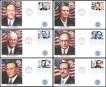 4076 a - f / 39c Distinguished American Diplomats Set of 6 Fleetwood 2006 FDC