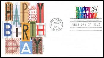 4079 / 39c Happy Birthday 2006 Fleetwood FDC