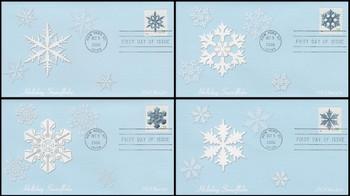 4101 - 4104 / 39c Snowflakes PSA : Holiday Celebration Series Set of 4 Fleetwood 2006 FDCs