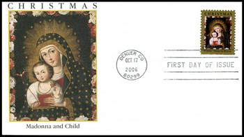 4100 / 39c Chacon Madonna and Child with Bird : Holiday Celebration Series Fleetwood 2006 FDC