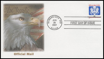 O162 / 41c Eagle Official Mail Coil Fleetwood 2007 FDC