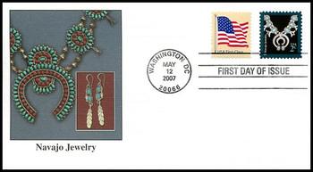 3753 / 37c Navajo Jewelry : American Design Series 2007 Fleetwood FDC