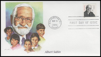 3435 / 87c Dr. Albert Sabin : Distinguished Americans Series Fleetwood 2006 FDC