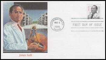 3428 / 63c Dr. Jonas Salk : Distinguished Americans Series Fleetwood 2006 FDC