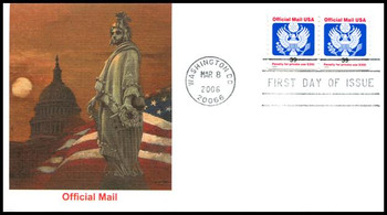 O160 / 39c Eagle Official Mail Coil Pair Fleetwood 2006 FDC