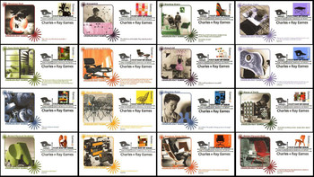 4333 a - p / 42c Charles & Ray Eames : Modern Design Set of 16 Fleetwood 2008 FDCs