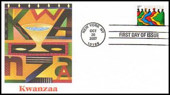 4220 / 41c Kwanzaa : Holiday Celebration Series 2007 Fleetwood FDC