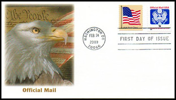 O163 / 1c U.S. Great Seal : Official Mail Fleetwood 2009 First Day Cover