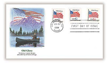 2883 - 2885 / G - Rate ( 32c ) Old Glory Bklt Singles Combo 1994 Fleetwood FDC