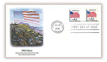 2886 - 2887 / G - Rate ( 32c ) Old Glory PSA Bklt Singles Combo 1994 Fleetwood FDC