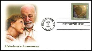 4358 / 42c Alzheimer's Awareness Fleetwood 2008 FDC