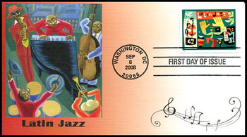 4349 / 42c Latin Jazz Fleetwood 2008 First Day Cover