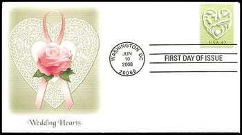 4271 / 42c Wedding Hearts Fleetwood 2008 FDC