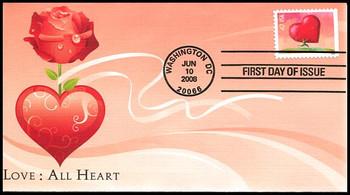 4270 / 42c Love : All Heart Fleetwood 2008 FDC