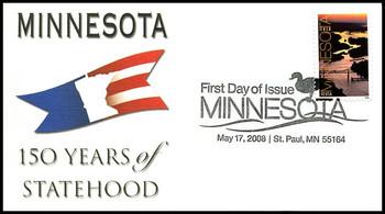 4266 / 42c Minnesota Statehood Fleetwood 2008 FDC