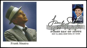 4265 / 42c Frank Sinatra : New York, NY Postmark Fleetwood 2008 FDC