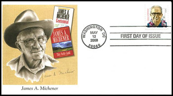 3427a / 59c James A. Michener : Distinguished Americans Series Fleetwood 2008 FDC