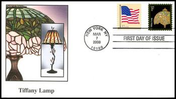 3749a / 1c Tiffany Lamp Fleetwood 2008 FDC