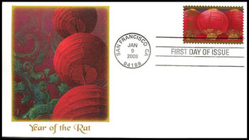 4221 / 41c Year of the Rat : Celebrating Lunar New Year Series Fleetwood 2008 FDC